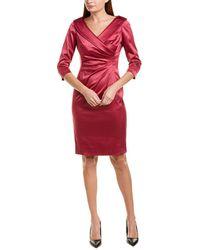 Tahari Tahari Asl Sheath Dress - Pink