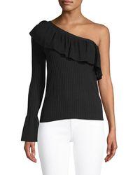 Rebecca Minkoff One-shoulder Ruffle Jumper - Black