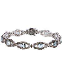 Le Vian ? 14k 7.65 Ct. Tw. Diamond & Aquamarine Bracelet - Metallic