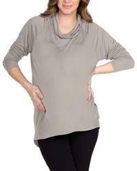 Lamade Cowl Neck Top - Grey