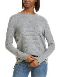 Workshop Rolled Trim Sweater - Gray