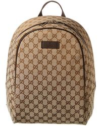 Gucci Brown GG Canvas Backpack