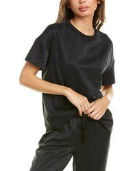Badgley Mischka Pocket Silk Top - Black