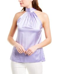 Ramy Brook Lori Silk-blend Top - Purple