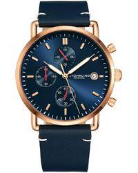 Stuhrling Original Monaco Watch - Blue