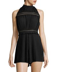 Endless Rose - Pleated Sleeveless Romper - Lyst