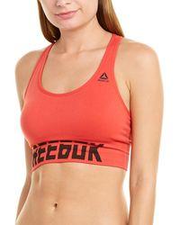 Reebok Seamless Padded Bra - Red