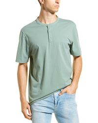 Vince Garment Dye Henley - Green
