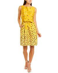 Anne Klein A-line Dress - Yellow