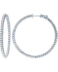 Diana M. Jewels . Fine Jewellery 14k 1.85 Ct. Tw. Diamond Hoops - Metallic
