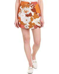 Dodo Bar Or Leela Mini Skirt - Orange