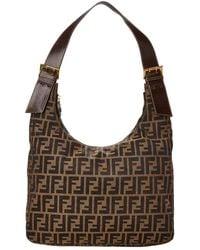 Lyst - Fendi Canvas Handbag Zucca in Brown 7fdf70e310bdb