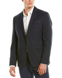 Perry Ellis Slim Fit Sport Coat - Blue