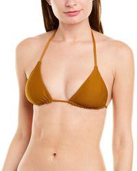 Vitamin A Gia Reversible Triangle Bikini Top - Yellow