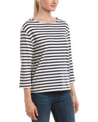 Three Dots Brenton Stripe 3/4-sleeve Shirt - Blue