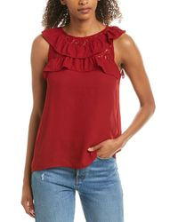 BB Dakota Junior's Pretty Cdc Lace Top - Red