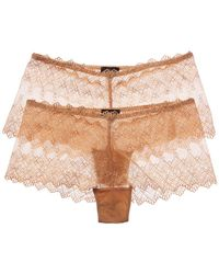 Cosabella - Set Of 2 Papyrus Low-rise Hotpant - Lyst