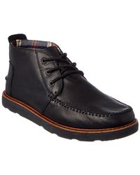 TOMS - Black Leather Men'S Chukka Boots - Lyst