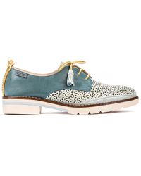 Pikolinos Sitges W7j Leather Casual Shoe - Blue