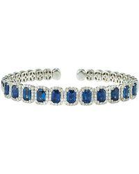 Diana M. Jewels - . Fine Jewelry 18k 9.10 Ct. Tw. Diamond & Sapphire Bangle - Lyst