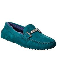 Tod's Tod?s Double T Suede Loafer - Green