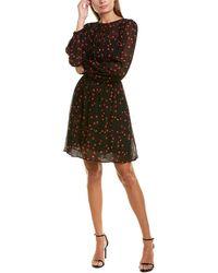 Warm Rivoli A-line Dress - Black