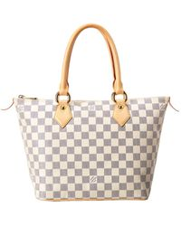Louis Vuitton Damier Azur Canvas Saleya Pm - Multicolour