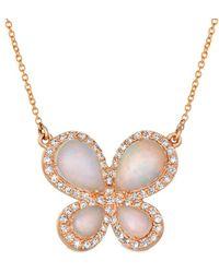 Le Vian ? 14k Strawberry Gold? 2.31 Ct. Tw. Diamond & Opal Necklace - Multicolour