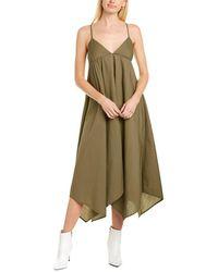 J.Crew Poplin Handkerchief Maxi Dress - Green