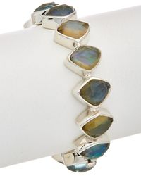Stephen Dweck Borealis Silver Gemstone, Mother-of-pearl, & Pearl Bracelet - Multicolour