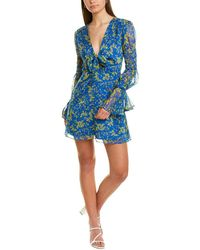 The East Order Tie-front Mini Dress - Blue