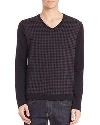 Saks Fifth Avenue - Merino Wool Houndstooth Sweater - Lyst