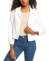 Theory Shrunken Linen-blend Jacket - White