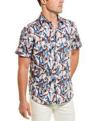 Robert Graham Hollick Woven Shirt - Blue