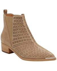 Marc Fisher Yaslin Suede Bootie - Natural