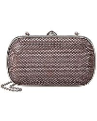 Judith Leiber Full Beaded Rectangle Clutch - Metallic