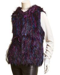 Adrienne Landau Hooded Vest - Blue