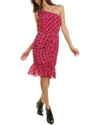 10 Crosby Derek Lam Taula One-shoulder Mini Dress - Red