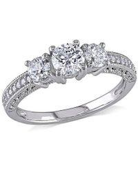 Rina Limor 14k 1.00 Ct. Tw. Diamond Engagement Ring - Metallic
