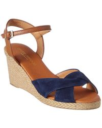 Andre Assous Ellie Suede Wedge Sandal - Blue