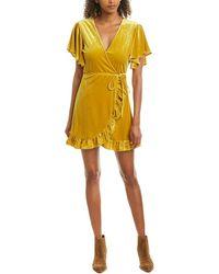 Jack BB Dakota West Village Faux Wrap Dress - Yellow