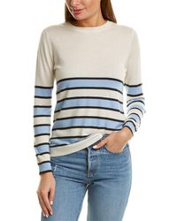 Chinti & Parker Bands Cashmere Sweater - Blue