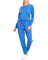 Catherine Malandrino 2pc Sweatshirt & Jogger Pant Set - Blue