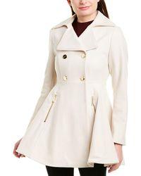 Laundry by Shelli Segal Melton Wool-blend Coat - White