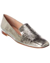 French Sole Duet Leather Loafer - Metallic