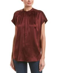 Vince - Shirred Top - Lyst