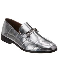 Newbark Melanie Leather Loafer - Gray