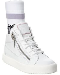 Giuseppe Zanotti Frankie Plus Leather High-top Trainer - White
