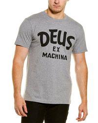 Deus Ex Machina Curvy T-shirt - Gray