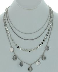 Sparkling Sage - Silver Multi-layer Necklace - Lyst